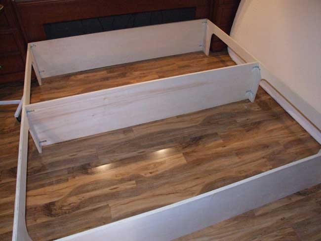 platform bed with storage plans