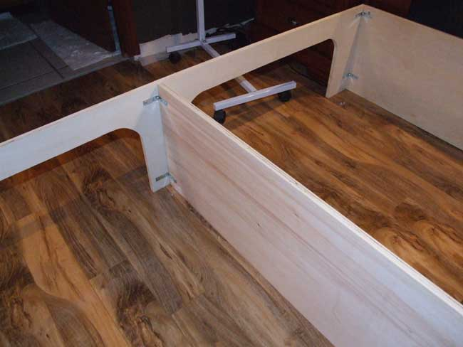 king size platform bed plans with drawers