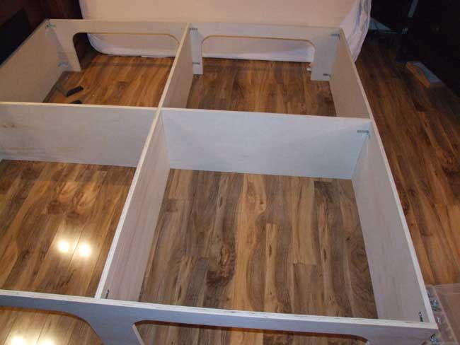 PDF DIY King Size Platform Storage Bed Plans Download jgro cnc router