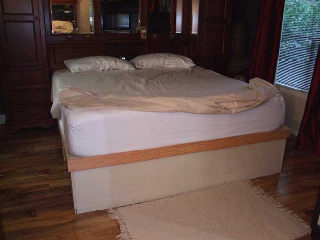 Plans To Make A Platform Bed With Drawers PDF Plans