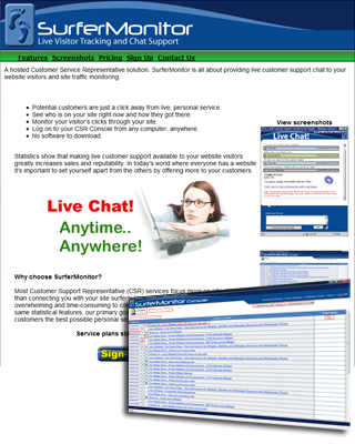SurferMonitor Live Chat Service