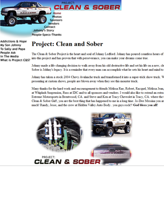 Clean and Sober Truck